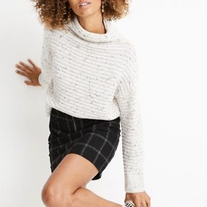 Madewell donegal Belmont mock neck sweater m